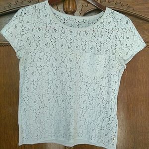Hollister lace and cotton top